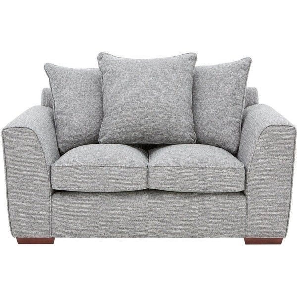 Rio 2 Seater Terback Fabric Sofa 630 Liked On Polyvore Featuring Home Furniture Sofas Pillow Back Couch Two Seat Person
