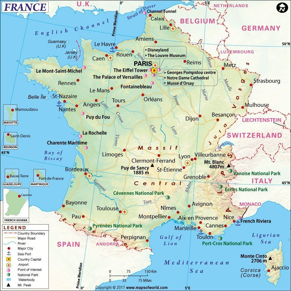 Country Map Of France.Mow Amz On Maps France Map France Travel France City