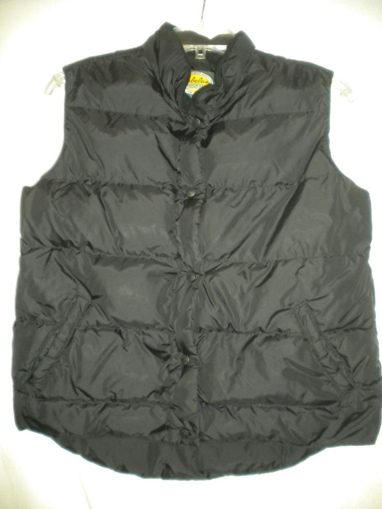 63bf135e53a8 Cabela s Medium Reg Black Premier Northern Goose Down Womens Snap Winter  Vest  Cabelas
