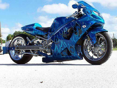 Beautiful blue on this bike