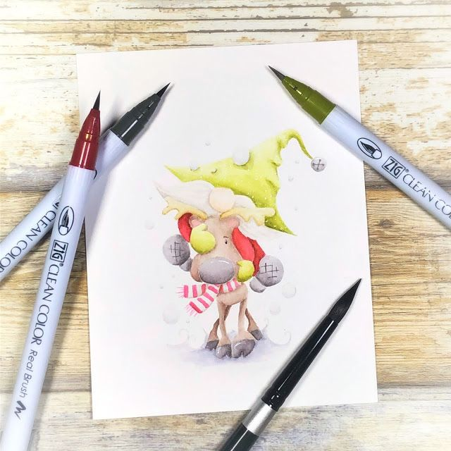 Love no lines colouring? Check out the Let's Go Gnome stamp over on the blog! #crafts #craft #crafting #handcrafted #craftsupplies #cardmaking #handmadecards #diycards #papercraftideas #coloring #copicmarkers #gnomes #christmascards