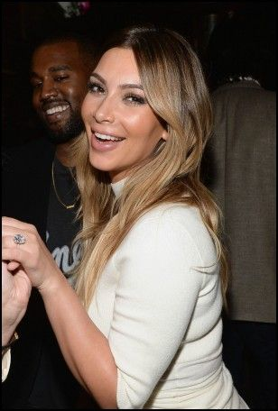 Gentil Kim Kardashian Kanye West Wedding Ring