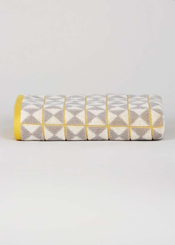 Geo Patterned Bath Towel 120cm X 70cm Grey Patterned Bath Towels Geometric Towel Cotton Bath Towels