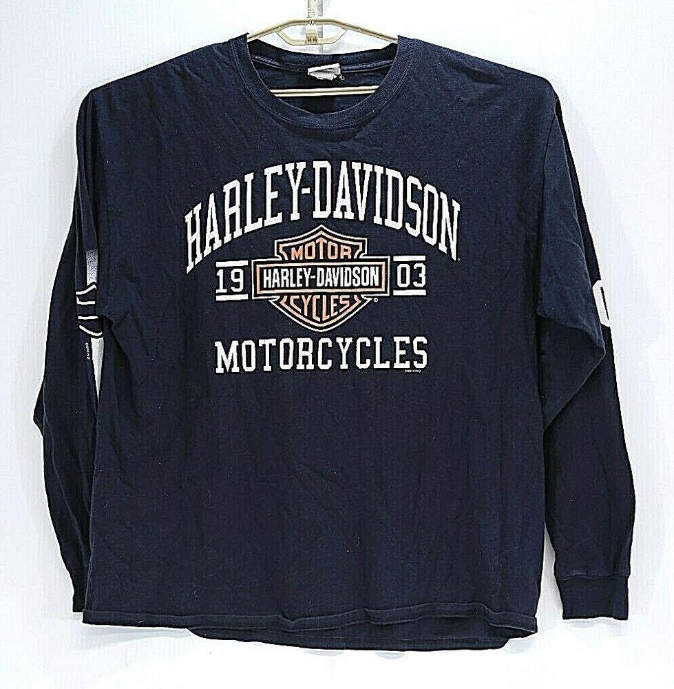 Harley Davidson Long Sleeve Graphic Tee Shirt Worth Kansas City Mo Size Xl Harley Long Sleeve Tshirt Men Harley Davidson Mens Shirts Harley Davidson T Shirts