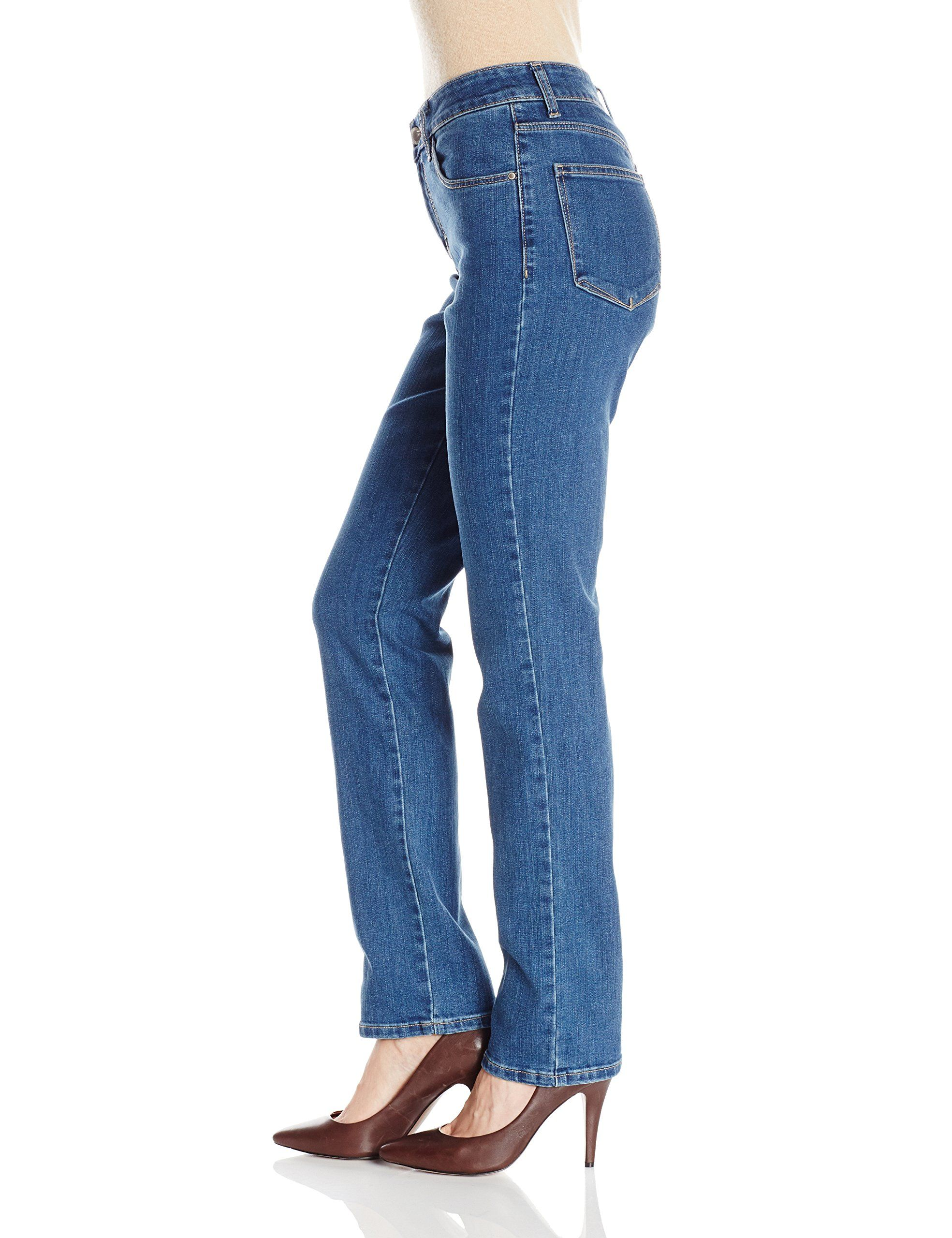 baaad704 LEE Womens Instantly Slims Classic Relaxed Fit Monroe Straight Leg Jean  Seattle 16 *** You can get more details by clicking on the image.