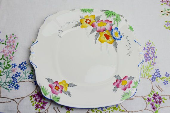 1930s art deco hand painted bell china cake plate pattern no 3388 was 14.99 now 9.99 & 1930s art deco hand painted bell china cake plate pattern no 3388 ...