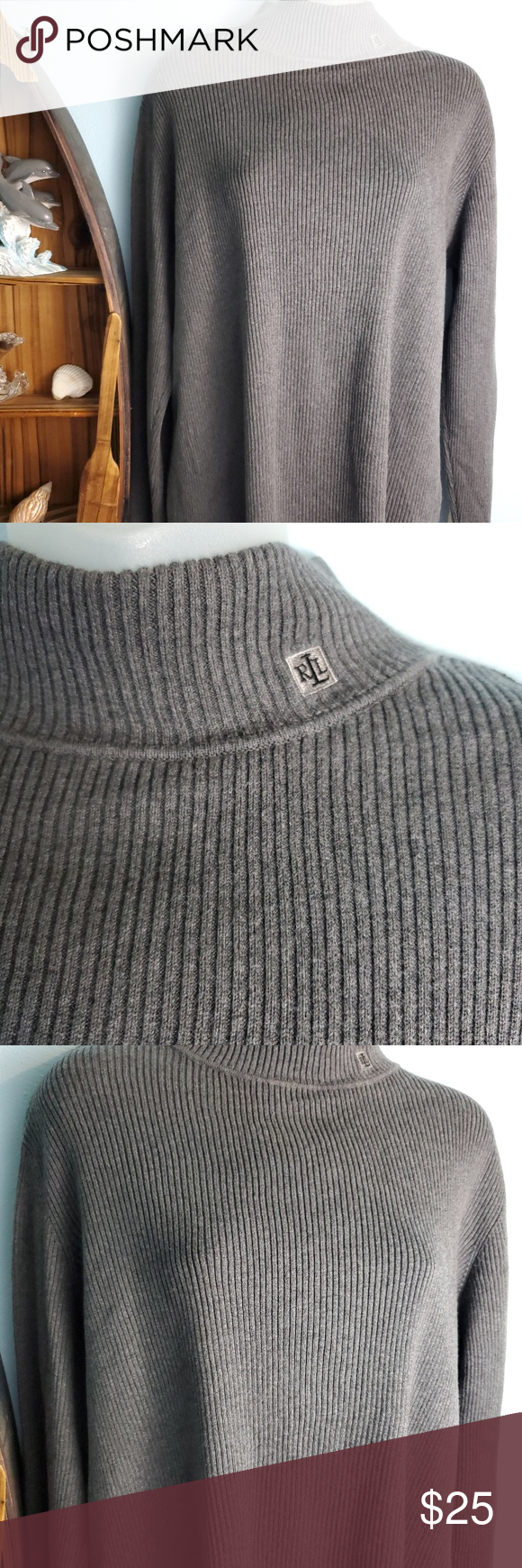 Ralph Lauren Sweater Great used condition. Ralph Lauren Sweaters Cowl & Turtlenecks #ralphlaurenwomensclothing