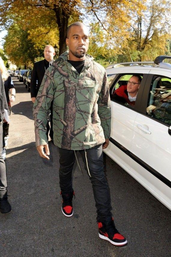 1c14660d62b Kanye West in Bred Air Jordan AJKO