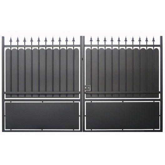 Portail Battant Calypso L 400cm Couleur Noir Portail Bois Portail Et Portail Aluminium Battant