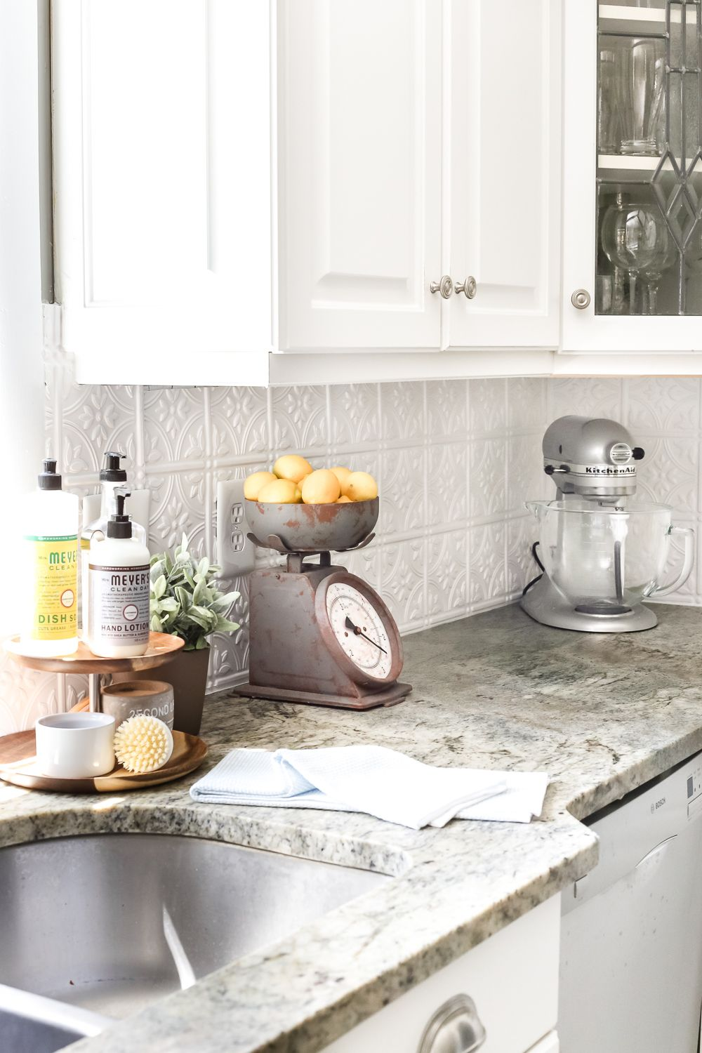 Diy Pressed Tin Kitchen Backsplash Farmhouse Kitchen Backsplash