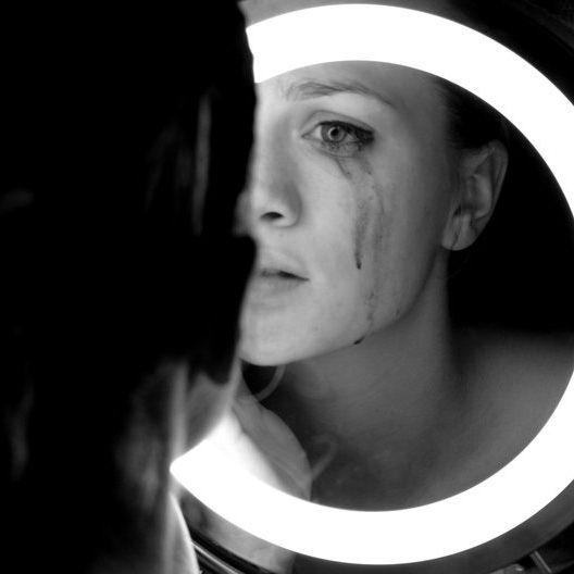 a leaking spirit | tears | emotion | cry | leaking eyes | makeup | mirror | sadness | sad | mascara | reflection