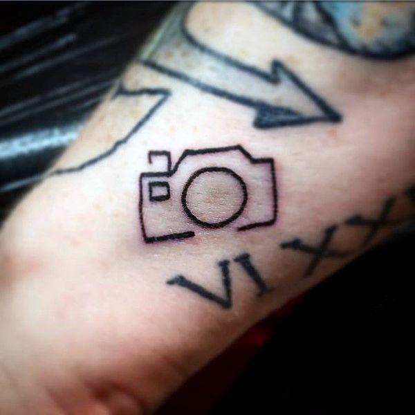 Simple Tattoo Design For Men: Men Small Tattoo Ideas Simple Camera