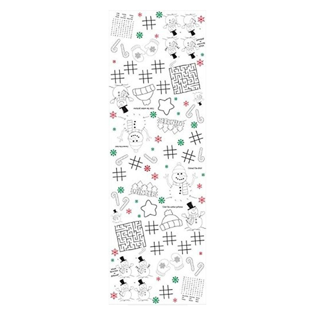Christmas Paper Tablecover 54 Inchx88 Inch Kids Activity