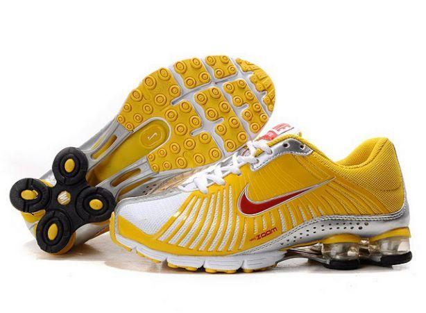 womens nike shox experience Nike Shox Experience Womens 691CU66 2015 Yellow/Red-Silver | Nike ...