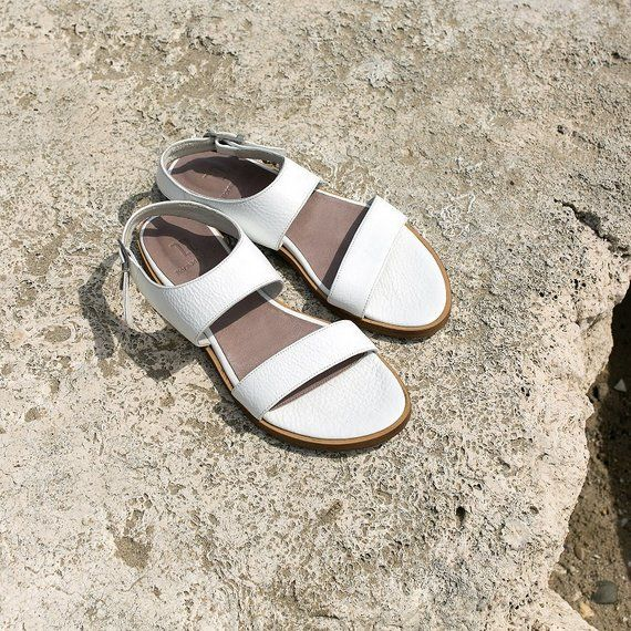 e1db3ea6d5b9 ON SALE! White Leather Sandals