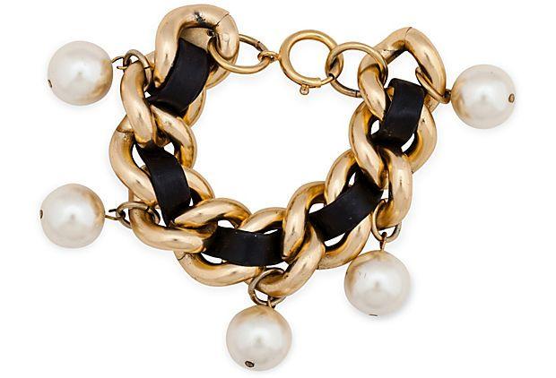 Erwin Chain & Pearl Bracelet on OneKingsLane.com