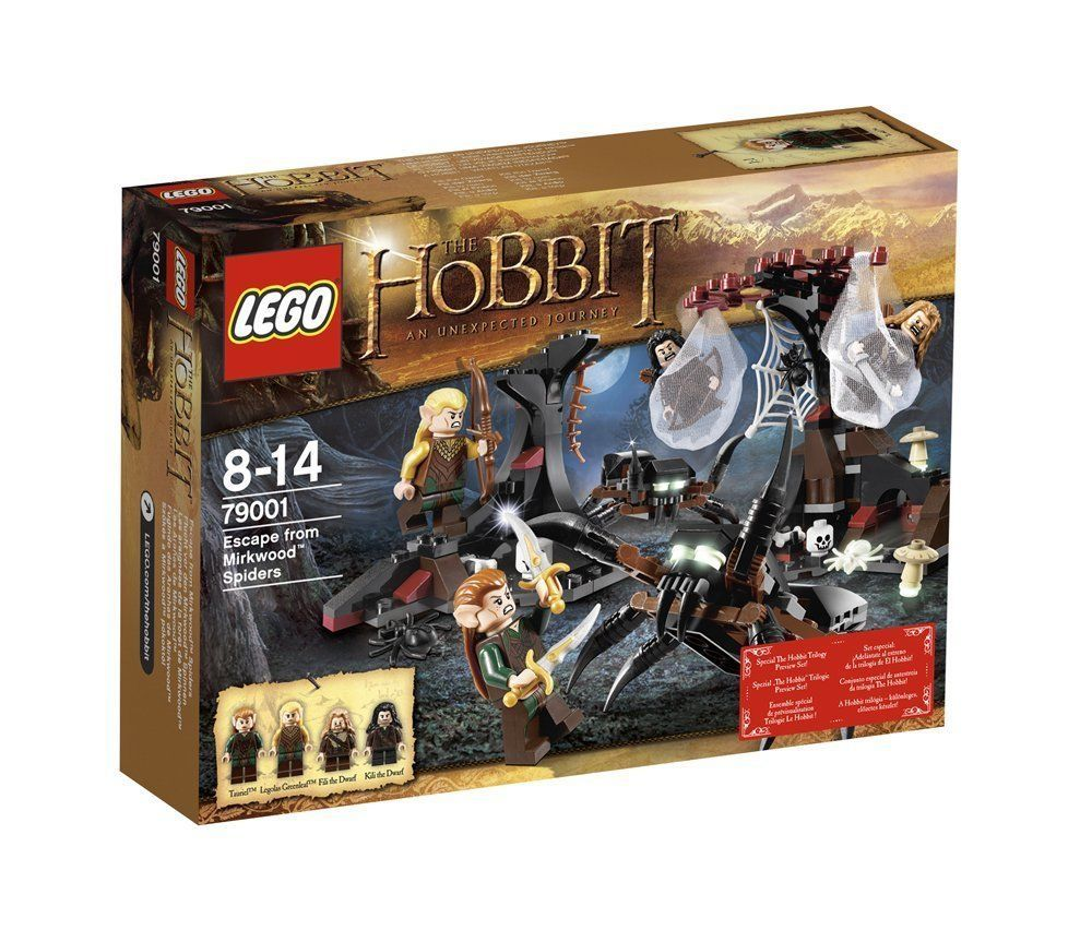 LEGO 79001 HOBBIT LORD of the RINGS ESCAPE FROM MIRKWOOD SPIDERS SEALED RETIRED