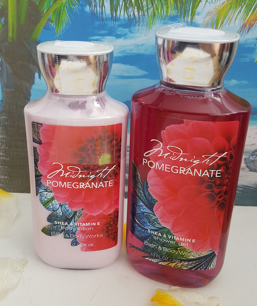 Bath And Body Works Midnight Pomegranate Shower Gel And Body