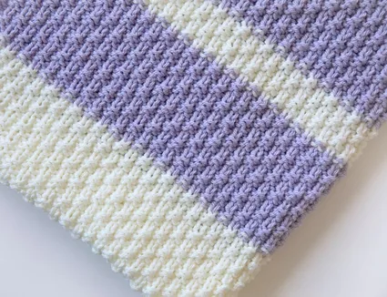 How to Knit a Linen Stitch (With images) | Knitted baby ...