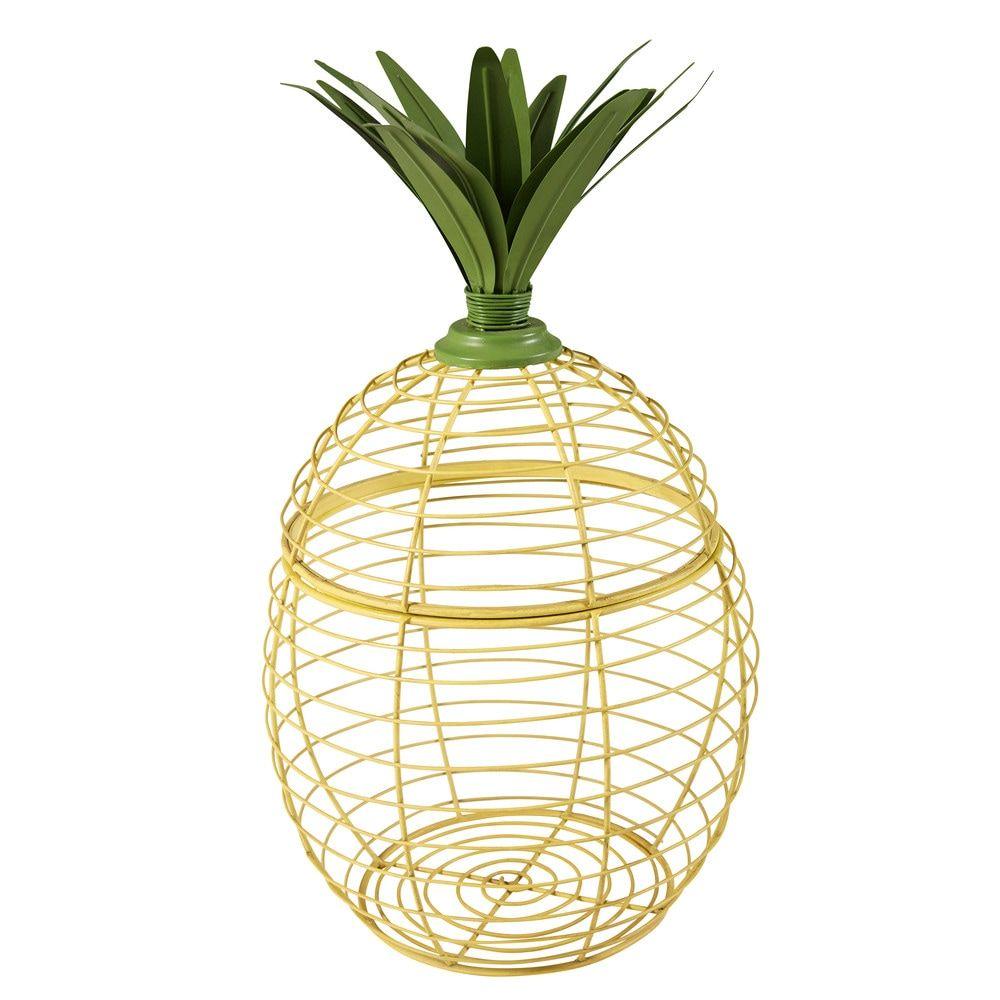 d co ananas en m tal jaune et vert brasil maisons. Black Bedroom Furniture Sets. Home Design Ideas