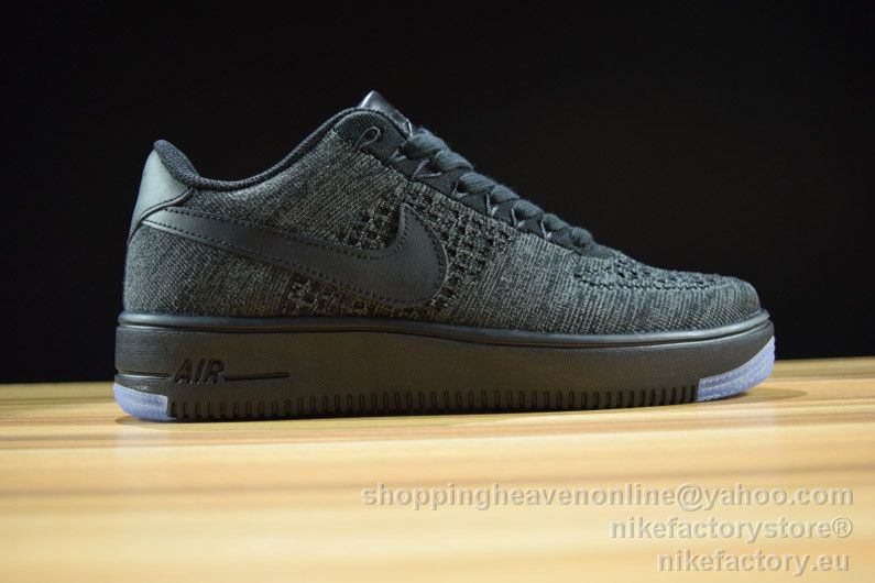 tela solar Días laborables  NIKE AF1 ULTRA FLYKNIT MID 817419-010 Black&Dark Gray | Nike af1, Nike, Nike  air force sneaker