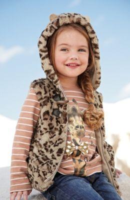 Sliczna Misiowa Kamizelka Uszy Futerko Next12 3971412532 Oficjalne Archiwum Allegro Girl Outfits Girl Falling Autumn Winter Fashion