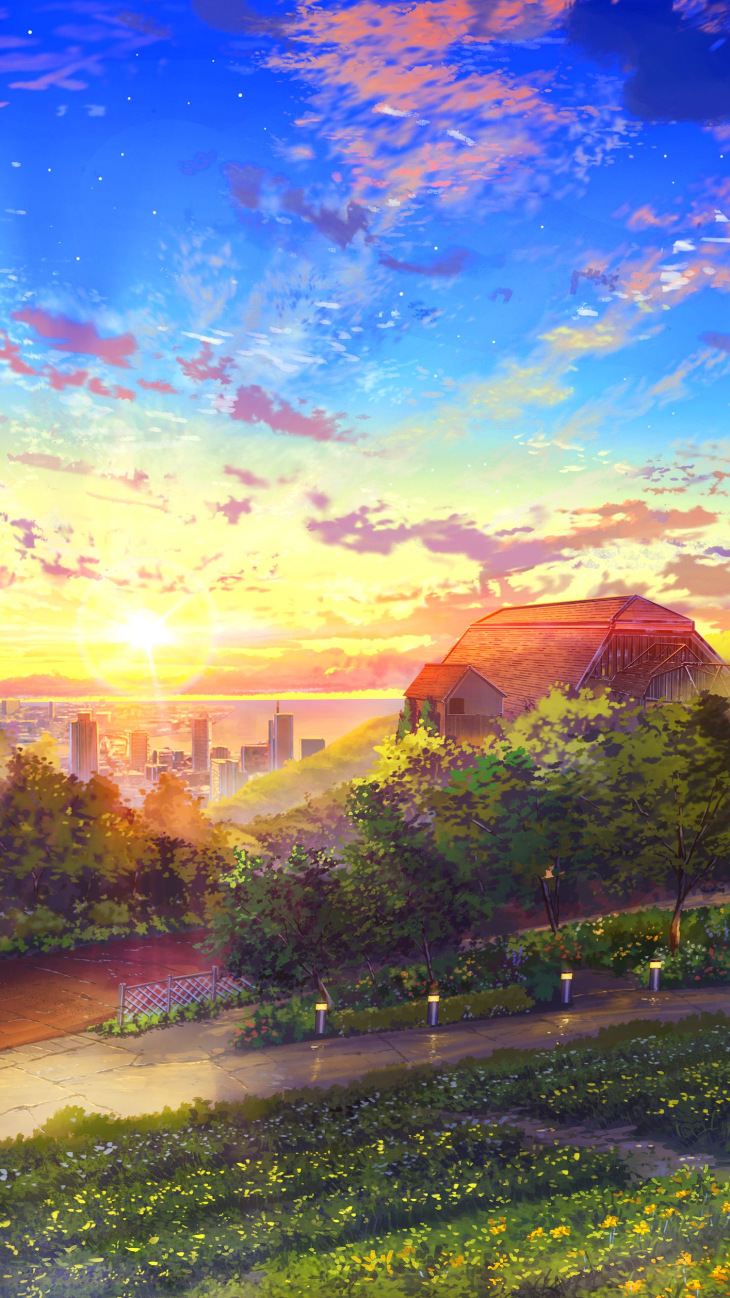 Anime Landscape Wallpaper Phone Anime Landscape 1440x2560 Wallpaper Id 793667 Mobile Abyss Anime Scenery Anime Scenery Scenery Wallpaper Anime Wallpaper Live
