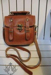 Items similar to handmade  vintage oldschool bag leather on Etsy