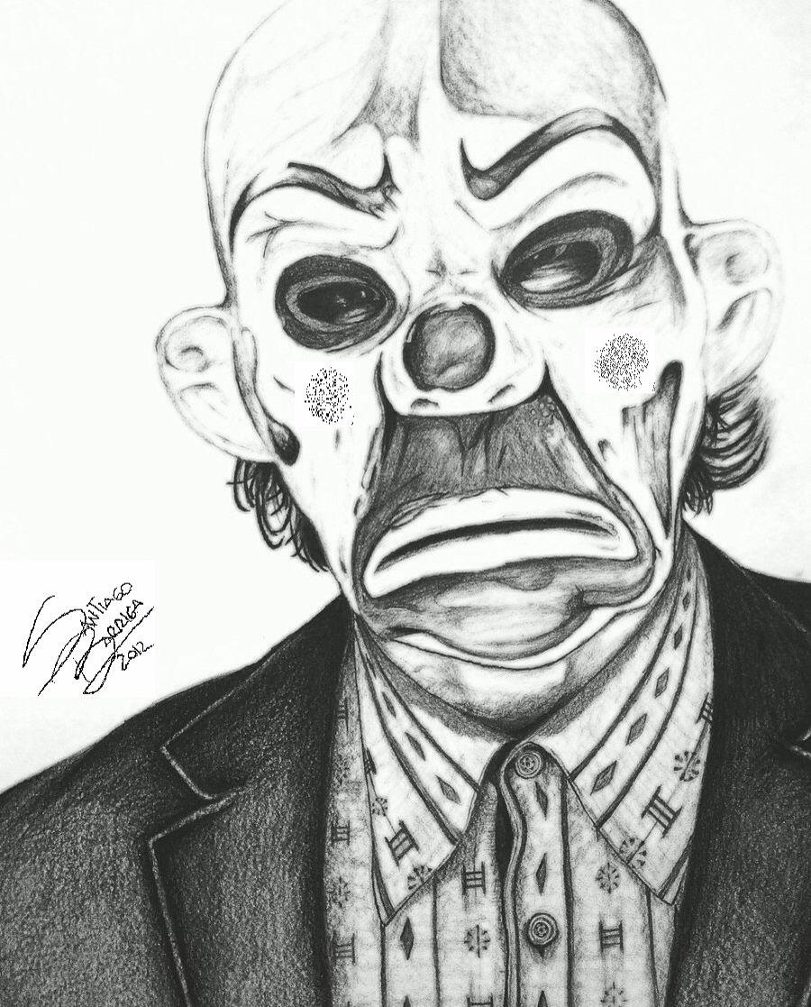Desenho Palhaço Tatuagem the joker with his clown mask entry | tatuagem de palhaço