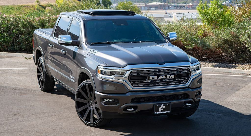 Shaq Buys New Ram 1500 Has It Fitted With 26 In Wheels Ram 1500 Ram Trucks Lifted Dodge Trucks