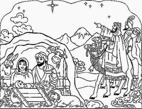 Nativity Coloring Sheet | Free Coloring Sheet | Nativity Scenes ...
