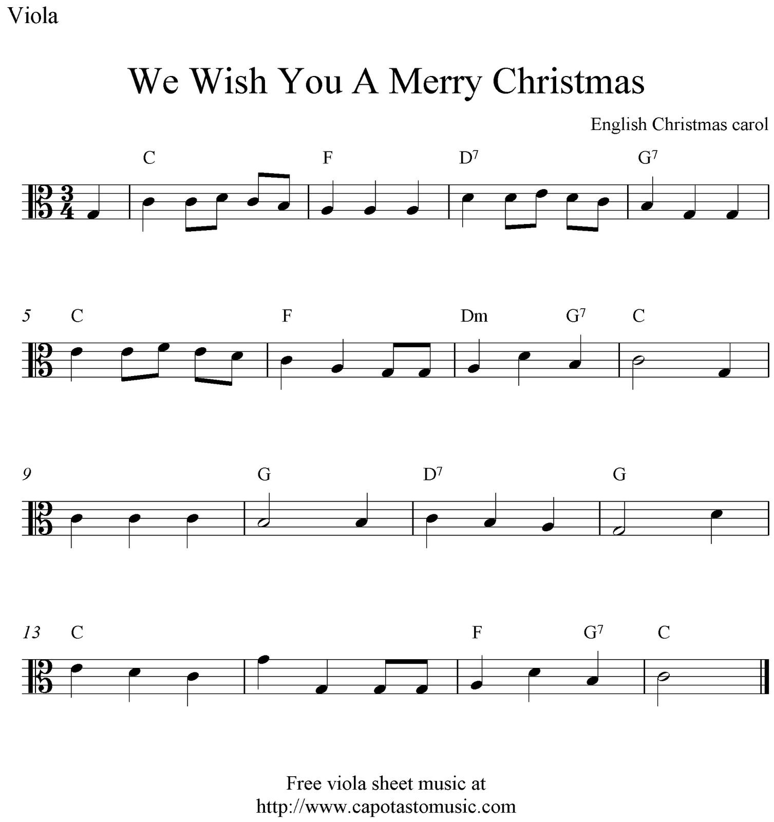Viola Sheet Music For Christmas