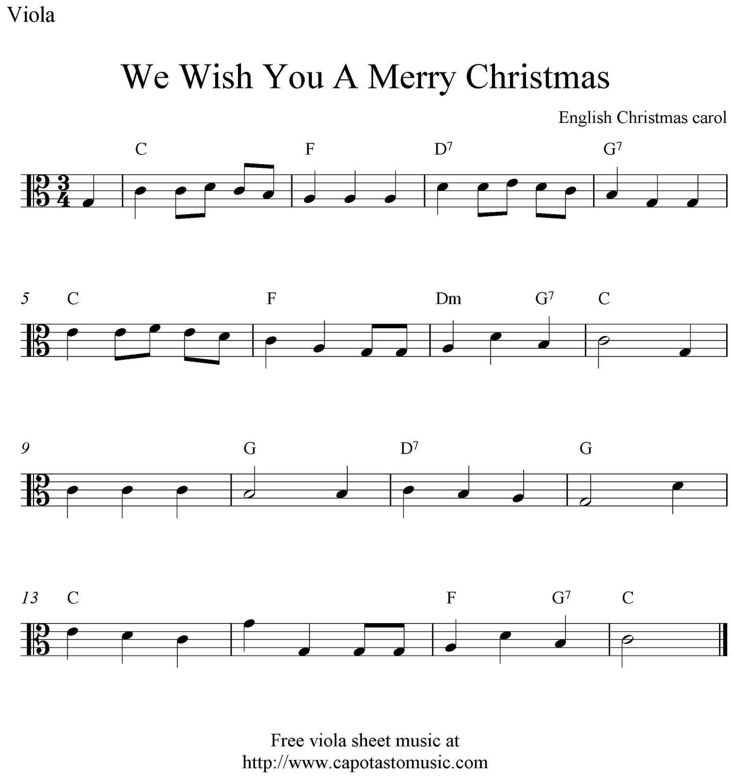 Viola Sheet Music for christmas | Free easy Christmas viola sheet ...