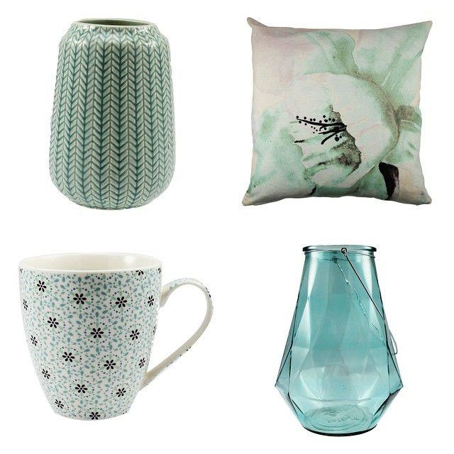 """""""Grønne ting og sånt  #Kremmerhuset Vase 129,- Putetrekk 149,- Krus 39,- Lykt 299,-"""""""