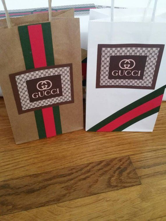 a68adb1881920d This listing is for 10 Gucci themed favor bags. Bags are available in 2  different styles as well as different color options.