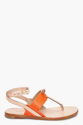 Rag & Bone Orange Sigrid Sandals so cute! | Stylin