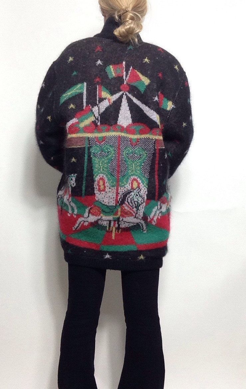 a66d6978ca Vintage  Marz Munchen  Oversized Carousel Sweater