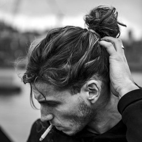 Learn To Tie The Most Effortless Man Bun Long Hair Styles Men Bun Hairstyles Man Bun Hairstyles