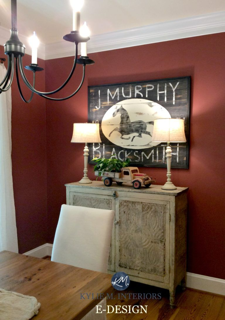 An Autumn Inspired Country Paint Palette Real Homes Real People Real Budgets Red Dining Room Dining Room Colors Dining Room Paint Primitive paint colors for living room