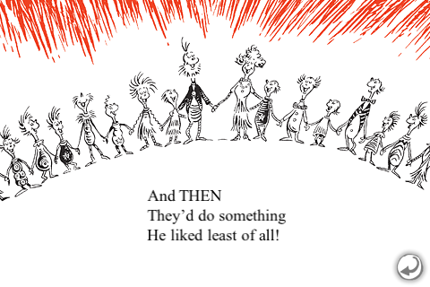 How The Grinch Stole Christmas Book Illustrations.A Line From Linda Every Who Down In Whoville Grinch