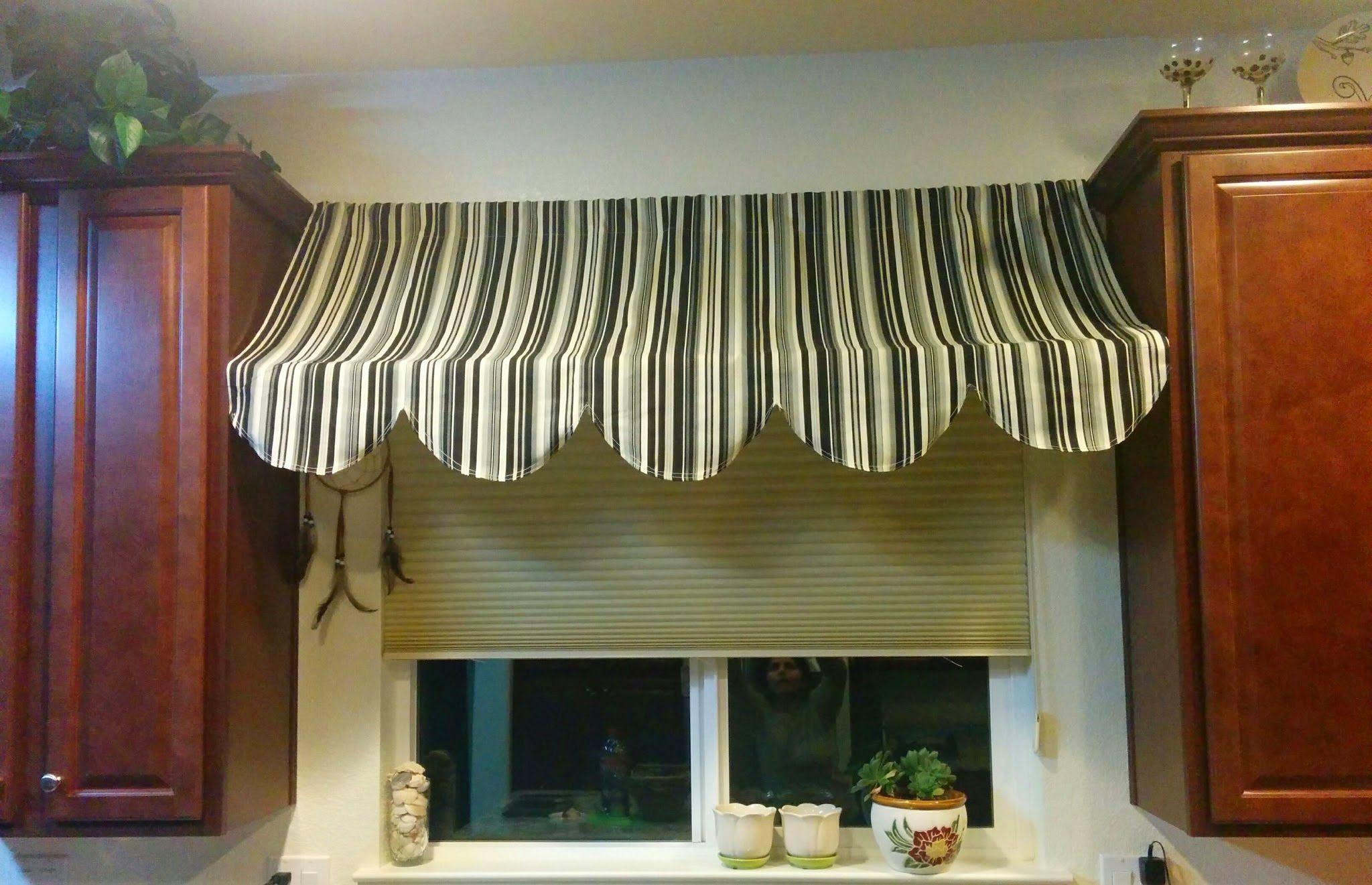 Easy Indoor Awning Home Ideas Bistro Kitchen Farmhouse Decor Valances