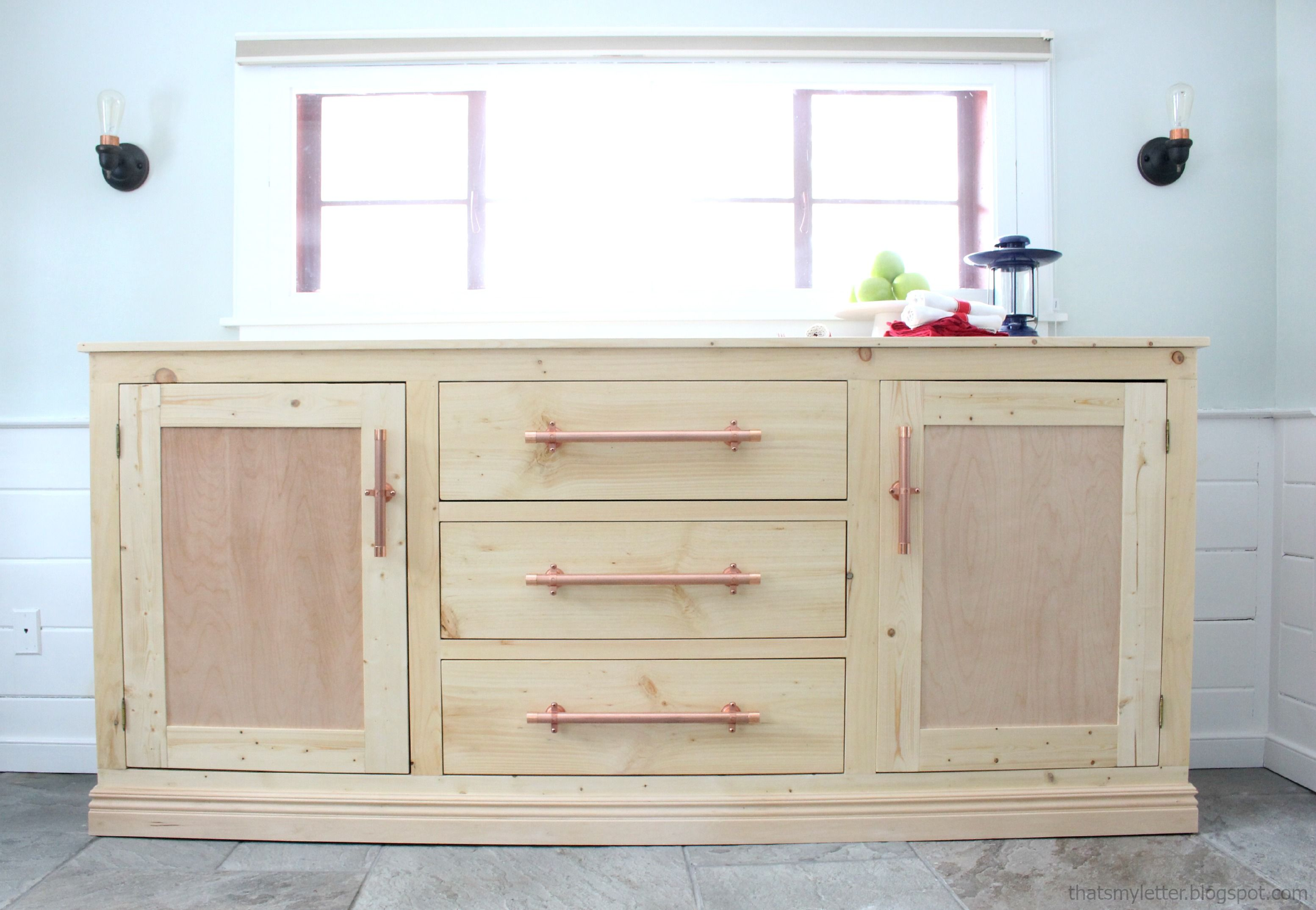 Ana white build a extra long buffet cabinet free and easy diy