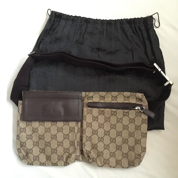245401f69 Gucci fanny pack A brown Gucci fanny pack bag. It's 100% authentic Gucci,