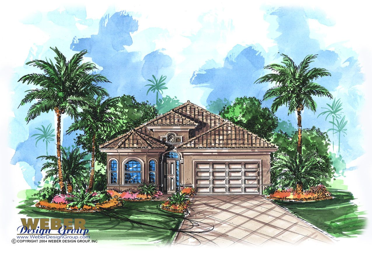 catalina great little mediterranean house plan with an open great