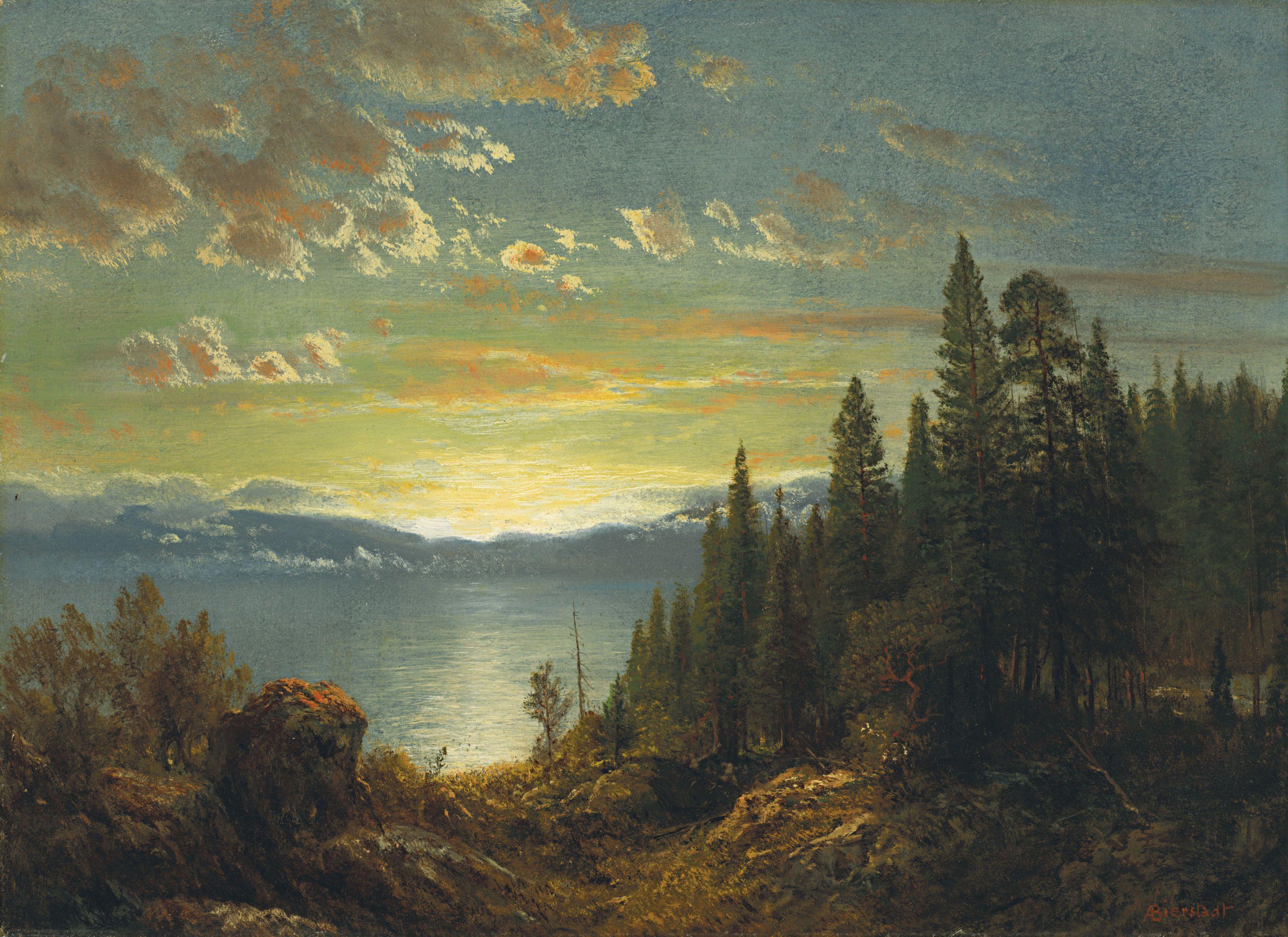Albert bierstadt 18301902 lake tahoe california with