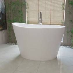 True Ofuro Stone Japanese Soaking Freestanding Tub - No Faucet Drillings