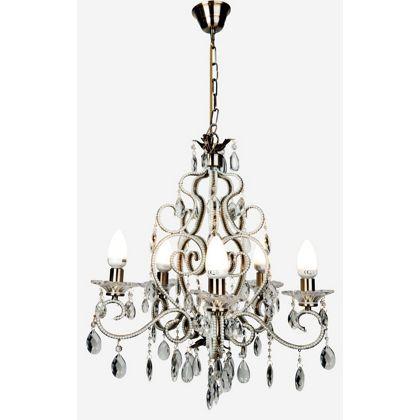 Natasha 5 Arm Ceiling Light - Antique Brass at Homebase -- Be ...