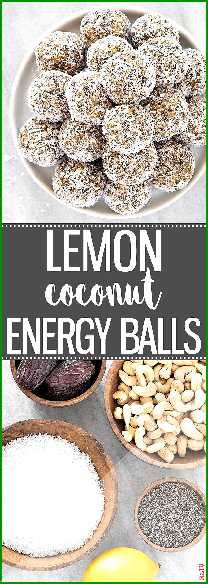 Healthy Lemon Coconut Energy Balls Healthy Lemon Coconut Energy Balls Hanne Br ning hannebrning Ess