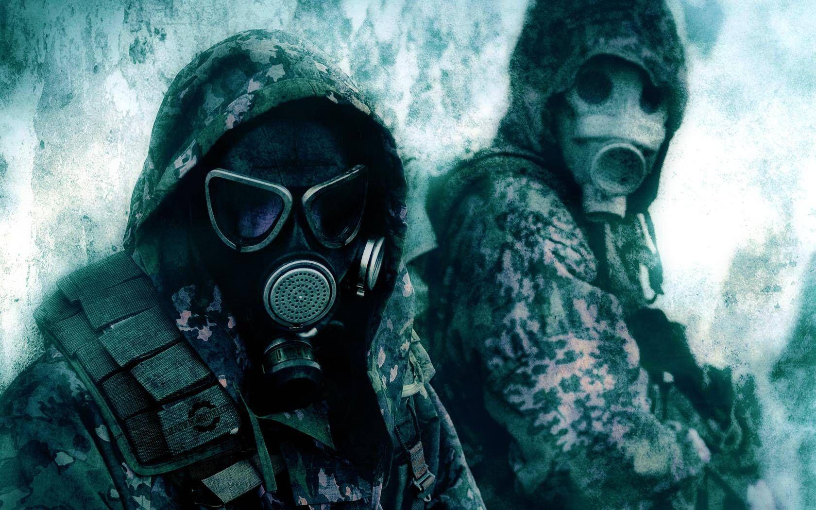 Fond Décran Hd Masques à Gaz Guerriers De Lapocalypse