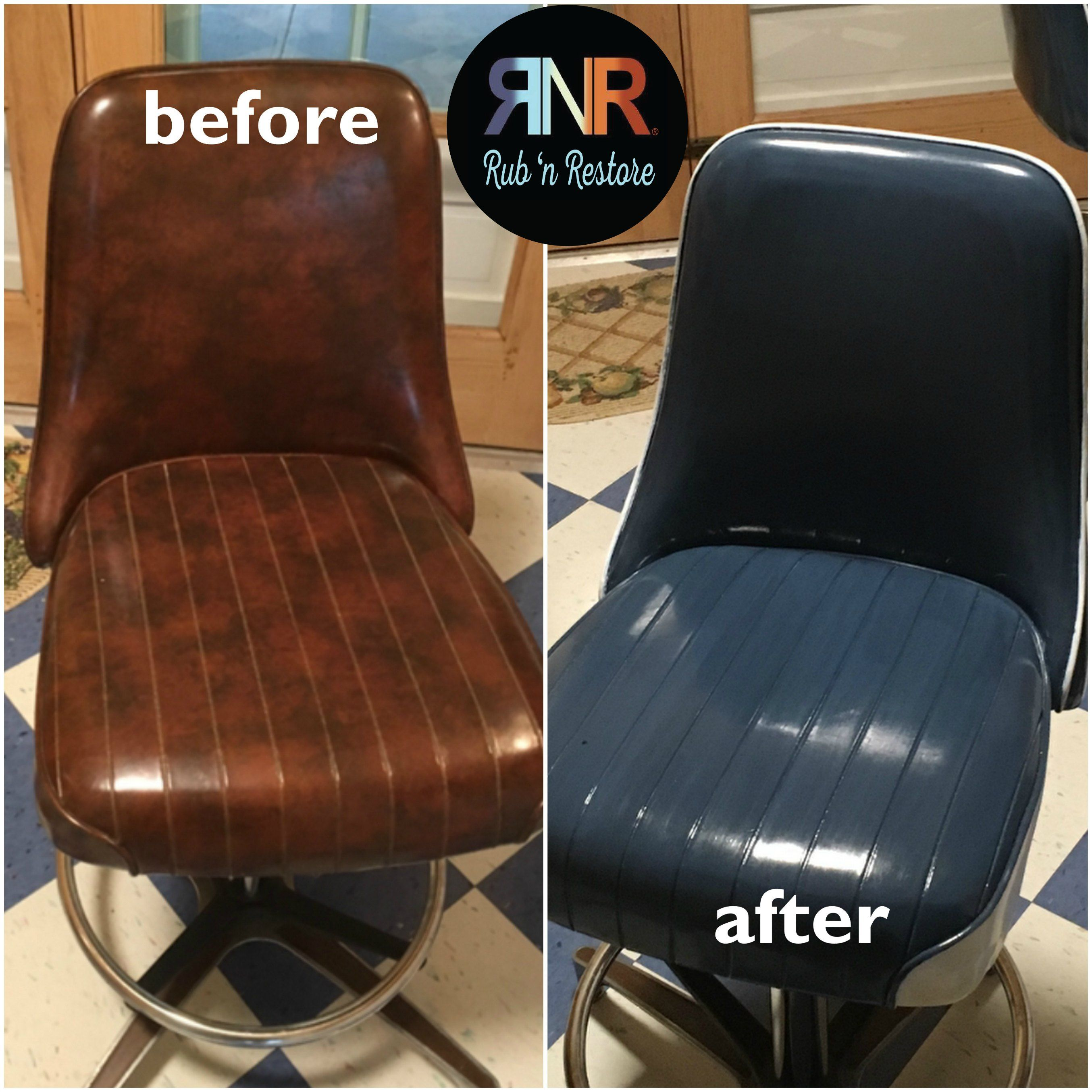 Storm Blue Vinyl & Leather Finish in 2019 | Brown leather ...